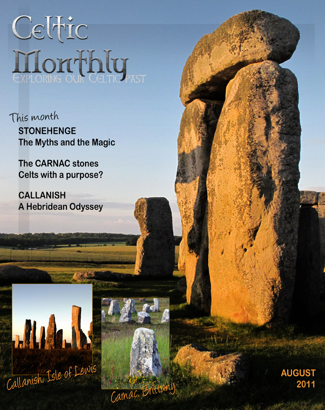 Magazine cover design:  Celtic Monthly:  Exploring Our Celtic Past